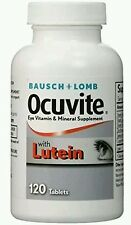Lot of 3 Ocuvite W/Lutein Antioxidants & Zinc Vitamin&Mineral Supplement, 120ct
