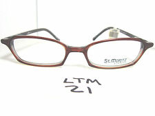 New ST. MORITZ Eyeglass Frame Alena 4816 Cognac Rectangular Mens Womens (LTM-21)
