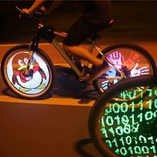 DIY Programmable Bicycle Spoke Bike Wheel LED Light Screen Display Night Cycling