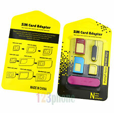 METAL ADAPTER NANO + MICRO + STANDARD SIM + NEDDLE FOR SAMSUNG S6 S5 S4 LG G4 G3