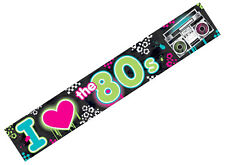 Totally 80s Foil Banner ~ I Love The 80s,1980s Disco Party Decorations Supplies