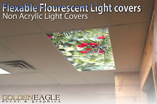 Fluorescent Light Panel Diffuser Film Pine Berry Ceiling Decorative Picture  11