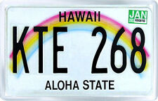 HAWAII USA LICENSE PLATE FRIDGE MAGNET SOUVENIR IMAN NEVERA