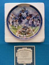 """BARRY  SANDERS              """"THE  GAME'S  GREATEST""""    BRADFORD  EXCHANGE  PLATE"""
