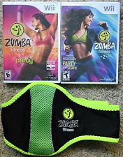 Zumba Fitness 1 & 2 Nintendo Wii Exercise Work Out Games with belt