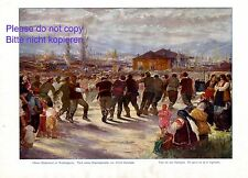 Choro Horo oder Hora Tanz Bulgarien XL Kunstdruck 1916 von Gartmann Reigentanz