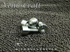 (4) Titanium Locking Nut String Clamp Ti Screws for 7 string Floyd Rose & Ibanez