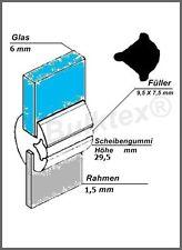 Original Bulktex® Kastenwagen Trennwand Gummi Scheibengummi Glas 6mm Blech 1,5mm