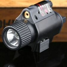 Compact LED Flashlight Red Laser Sight for Pistol Rifle Wever 20mm Rail Mount