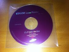 Colour Laser Printer CLP-510 Printer Driver & User's Guide x2 CDs