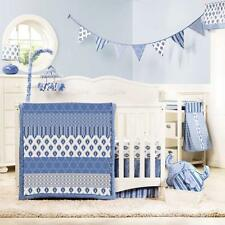 Kidsline Dena Indigo 4-Pc Crib Bedding Set + Mobile Blue (Total 5-Pc) *New*