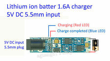 5V DC5.5mm 1.6A Lithium Battery 18650 14450 Charging Board Charger Module nuevo