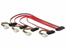 Delock Kabel SAS 32 Pin SFF-8484   4 x SAS 29 Pin SFF-8482 + Power 50 cm 83051