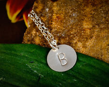 New Initial Monogram Pendant Tiny Dainty Sterling Silver Customized Necklace