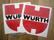 "WURTH RACING Car Stickers 5"" Pair Race Rally Classic BMW Porsche Mercedes Audi"