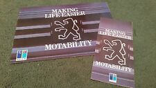 1988 PEUGEOT MOTABILITY MAKING LIFE EASIER -2x DIFFERENT UK BROCHURE 205 309 405