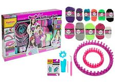GIRLS 6IN1 KNITTING SET Kids Starter Kit Toy Crafts Birthday Gift + LOOM & ACCS