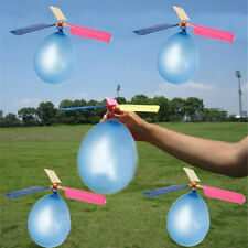 1Pc New Classic Balloon Airplane Helicopter For Kids Children Flying Toy GiftNM3