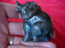 labradorite elephant carving nsa 31 this item is a one off & not mass produced