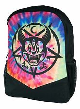 TIE DYE MICKEY MOUSE 666 OCCULT GENUINE DARKSIDE RUCKSACK LAPTOP BAG BACKPACK