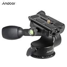 360°Tripod Monopod Quick Release Plate Ball Head Fluid Head with Rocker Arm 8XK4