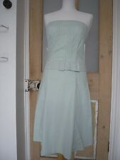Pale green white polka dot A line cotton flare dress bustier dress prom dress 8