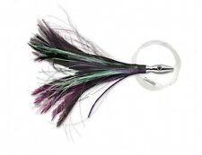 "Williamson Lures Flash Feather Rigged 04 Black Purple 4"" Lure FFR04-BLKPRPL"