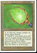 MAGIC THE GATHERING 4TH EDITION ARTIFACT GREEN MANA BATTERY