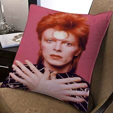 david bowie inspired make up artis musician pillow case 20x20 inches two sides