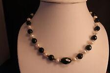 """BELLISSIMA collana con perle di acqua dolce e pietra del sole Gemstone 18 """"pollici lungo"""