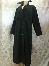 London Fog - Ladies Trench Coat - Black - Wool - Zip Plaid Lining - Belt -Sz 6 R