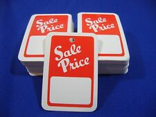 100 Red / White Unstrung Merchandise Sale Price Tags