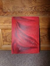Outsider Art Oil On Board Red Abstract