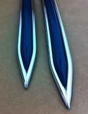 """Vintage type 5/8 """" Dark Blue with Chrome body side molding pointed ends"""