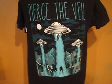 PIERCE THE VEIL ALIEN ABDUCTION T-SHIRT LARGE VIC FUENTES MIKE FUENTES
