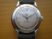 Vintage SWISS ELGIN SELF-WINDING 17 Jewels Automatic Men's Watch,military style