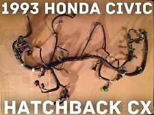 1993 Honda Civic CX Engine Wire Harness HATCHBACK Obd-1 92 93 94 95 Oem D15B8