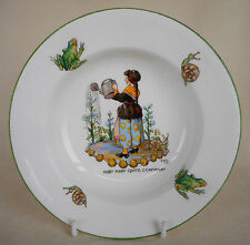 """GORGEOUS  CROWN STAFFORDSHIRE NURSERY WARE BOWL """"MARY MARY QUITE CONTRARY"""""""
