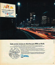 PUBLICITE ADVERTISING 054  1974  ATAL    meubles bureau
