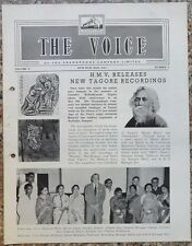 India THE VOICE May 1962 HMV Magazine - New Tagore Recordings