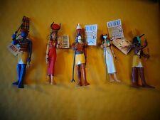 Plastoy Egyptian Figurines - Amon, Hathor, Horus, Bastet and Thor