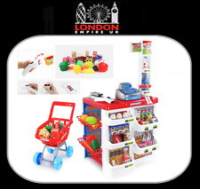 Kids Children Supermarket Play Set With Light & Sound INCLUDES Shopping Trolley