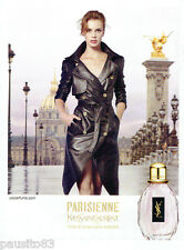 PUBLICITE ADVERTISING 125  2011  YVES SAINT LAURENT parfum LA PARISIENNE