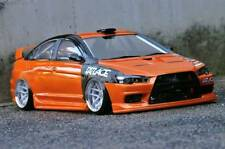 PANDORA 1/10 RC MITSUBISHI LANCER EvolutionX 196mm Clear Body Drift Hashiriya