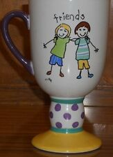Pfaltzgraff MUG CUP Friends Designer Collection PEDESTAL FOOTED EUC