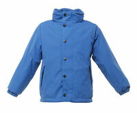 REGATTA KIDS TERM TIME WATERPROOF REVERSIBLE FLEECE ROYAL BLUE JACKET TRA900