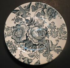 Enoch Wedgwood Green and White Asiatic Pheasants 4 inch plate Made in England