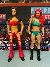 WWE Wrestling Mattel Jakks USED Basic Candice Michelle Eva Marie Figures Lot
