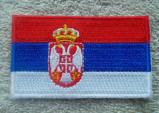 SERBIA FLAG PATCH Embroidered Badge Iron or Sew on 4.5cm x 6cm Srbija Србија NEW