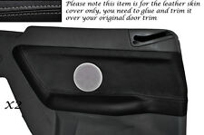 GREY STITCH 2X REAR DOOR CARD SKIN COVERS FITS BMW E36 CONVERTIBLE 1993-1998